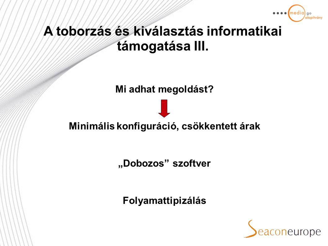 A toborzás és kiválasztás informatikai támogatása III.