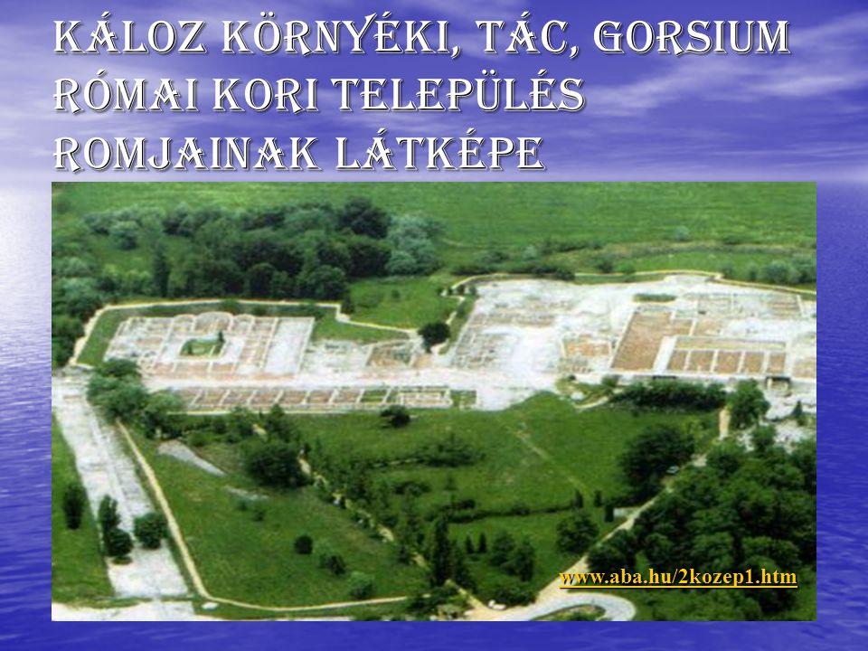 Káloz környéki, Tác, Gorsium római kori település romjainak látképe www.aba.hu/2kozep1.htm