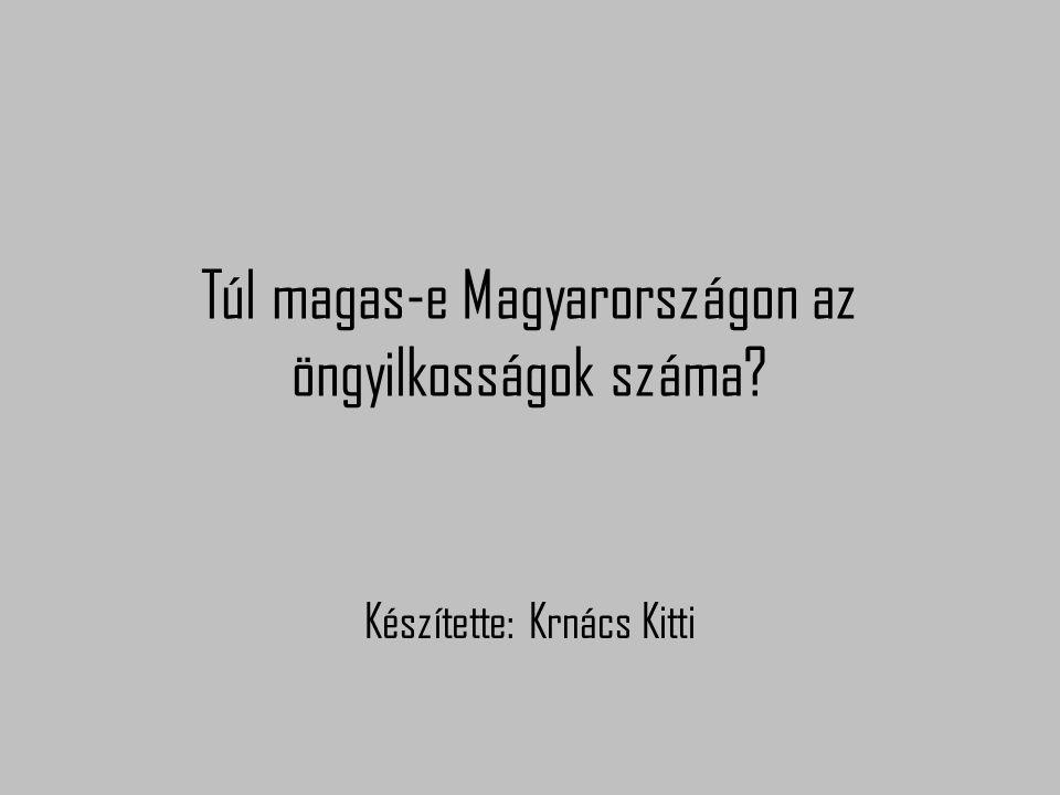 Túl magas-e Magyarországon az öngyilkosságok száma Készítette: Krnács Kitti