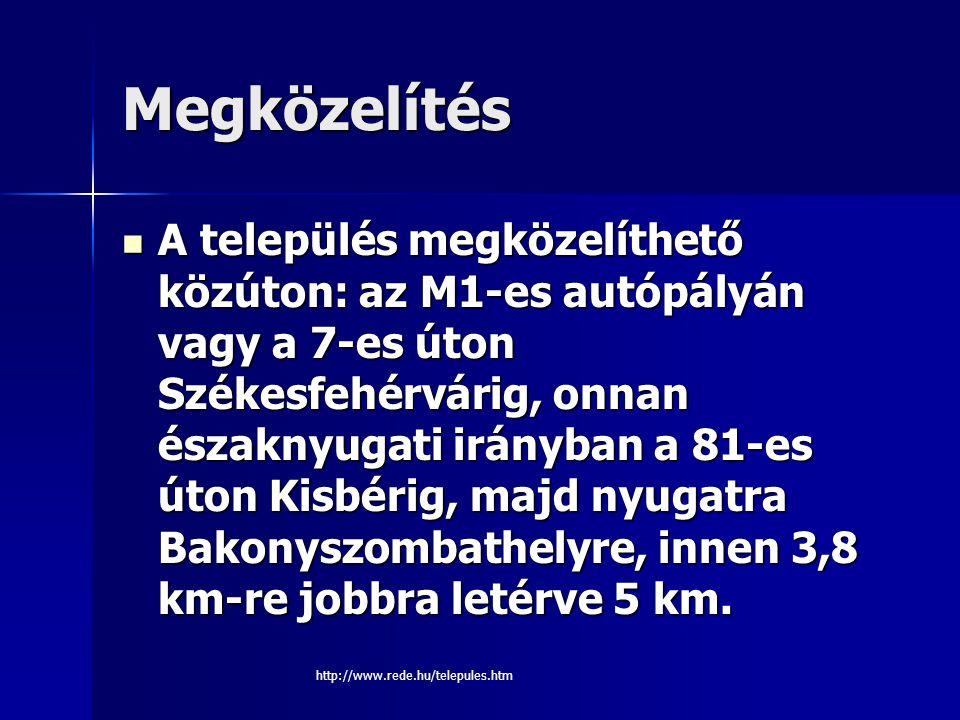 Réde http://www.rede.hu/telepules.htm Készítette: Bárány Dorián gazdálkodás és menedzsment I.