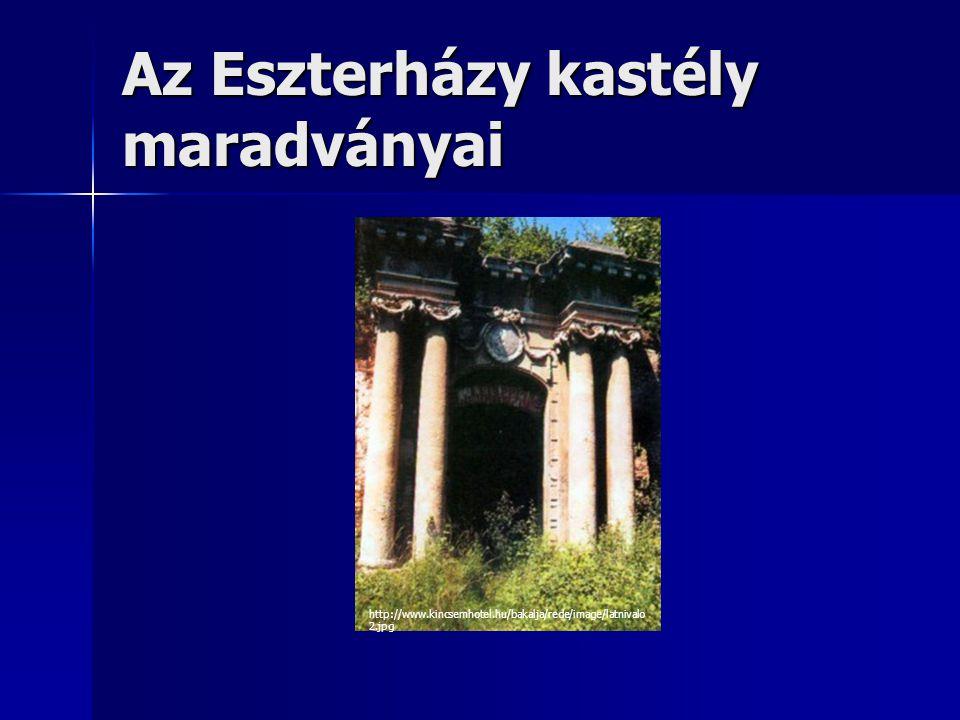 Az Eszterházy kastély maradványai http://www.kincsemhotel.hu/bakalja/rede/image/latnivalo 2.jpg