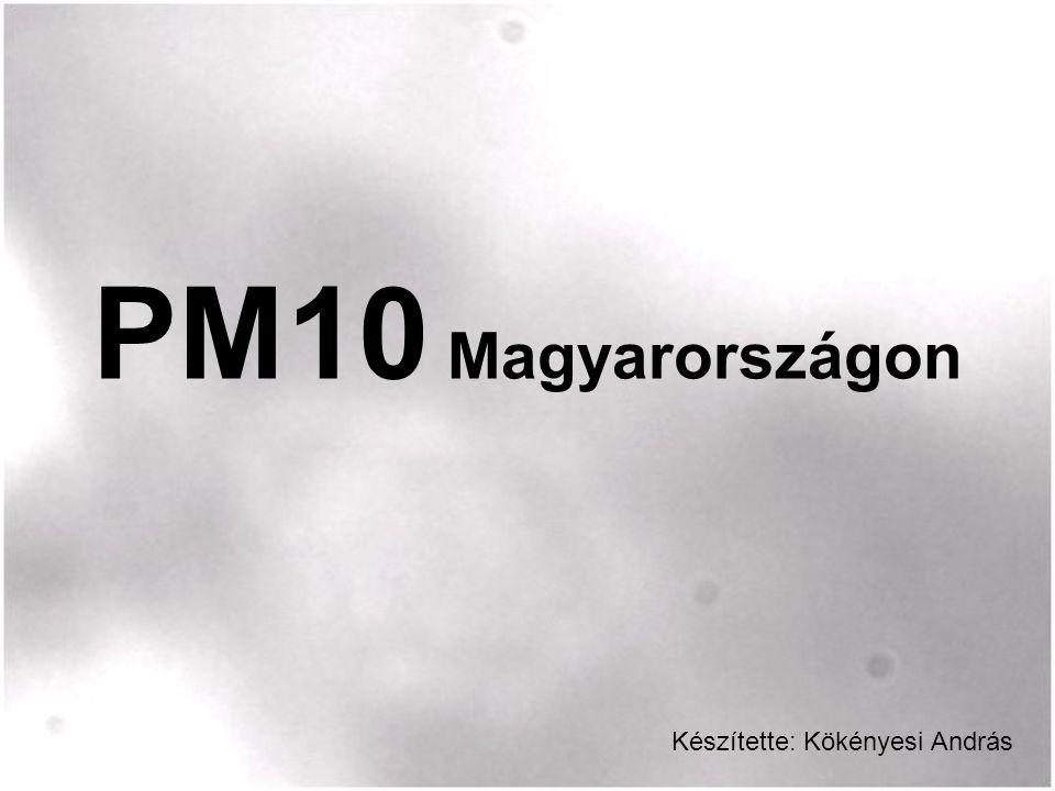 PM10 Magyarországon Készítette: Kökényesi András