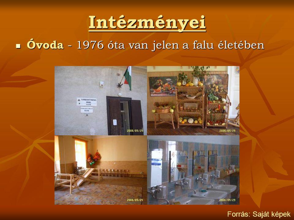 Intézményei Óvoda - 1976 óta van jelen a falu életében Óvoda - 1976 óta van jelen a falu életében Forrás: Saját képek