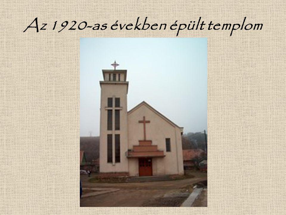 Az 1920-as években épült templom