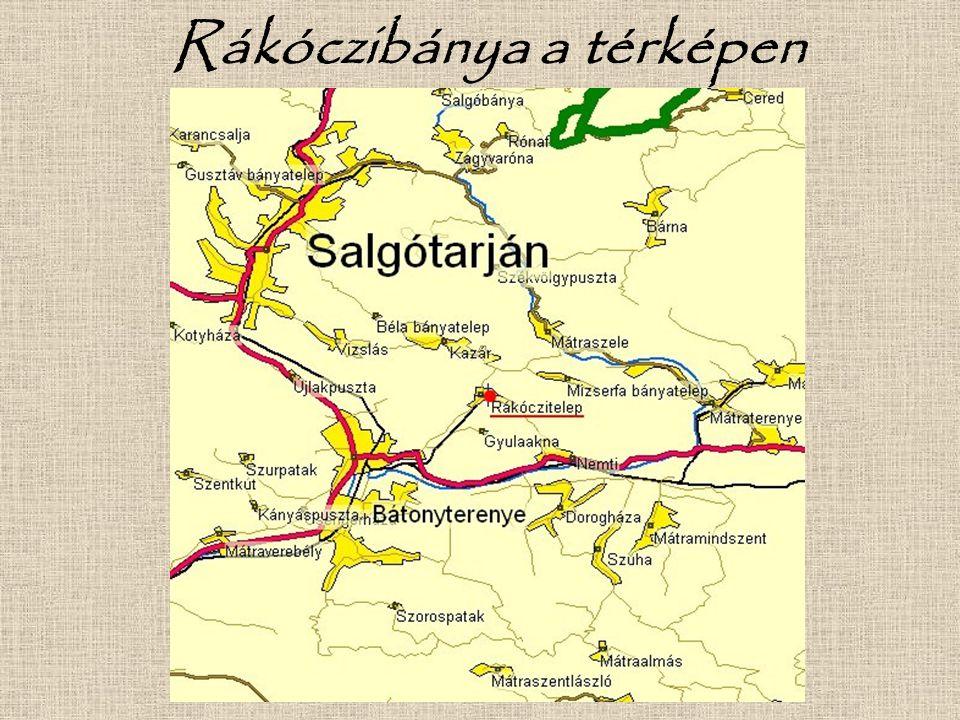Rákóczibánya a térképen