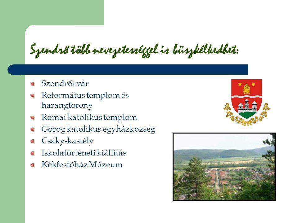 Szendrői vár Szendrő várának szerepe országos viszonylatban is jelentős volt, különösen a XVI-XVII.