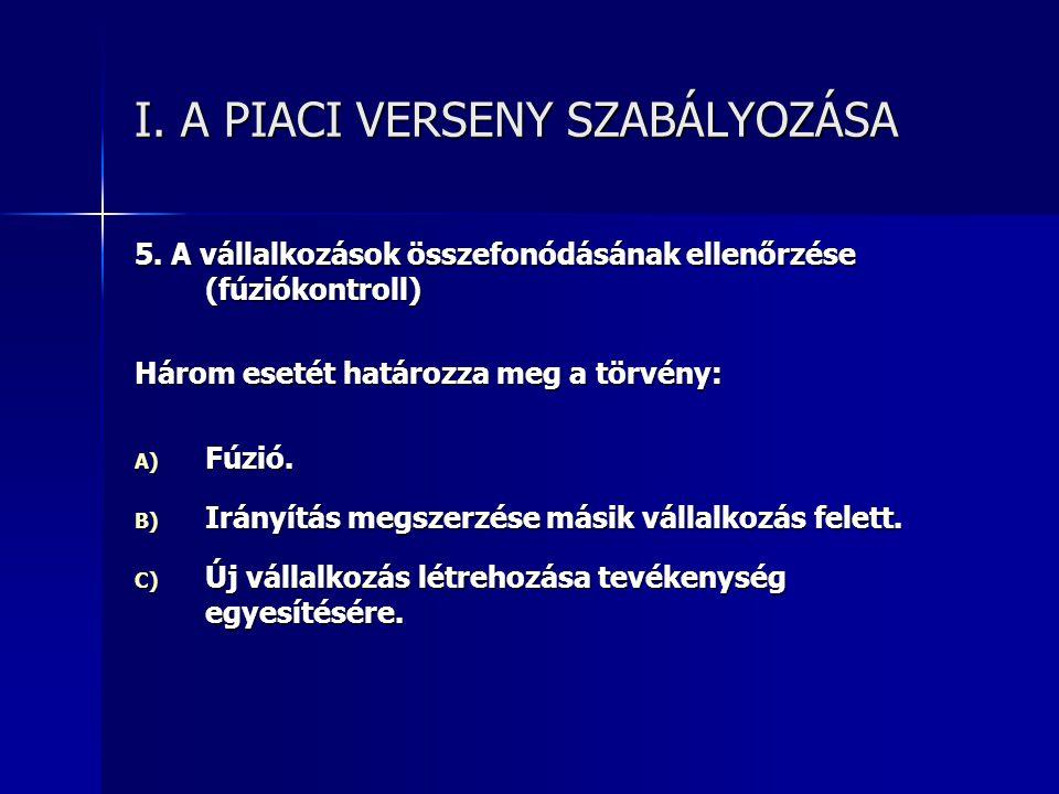 I.A PIACI VERSENY SZABÁLYOZÁSA 5.