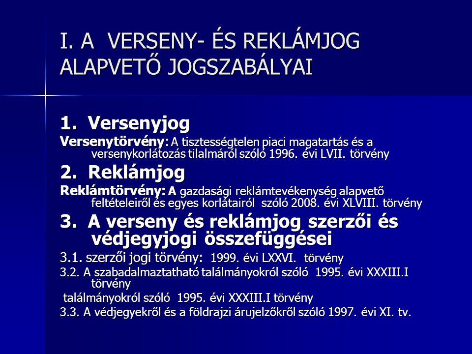 A PIACI VERSENY SZABÁLYOZÁSA A PIACI VERSENY SZABÁLYOZÁSA 3.