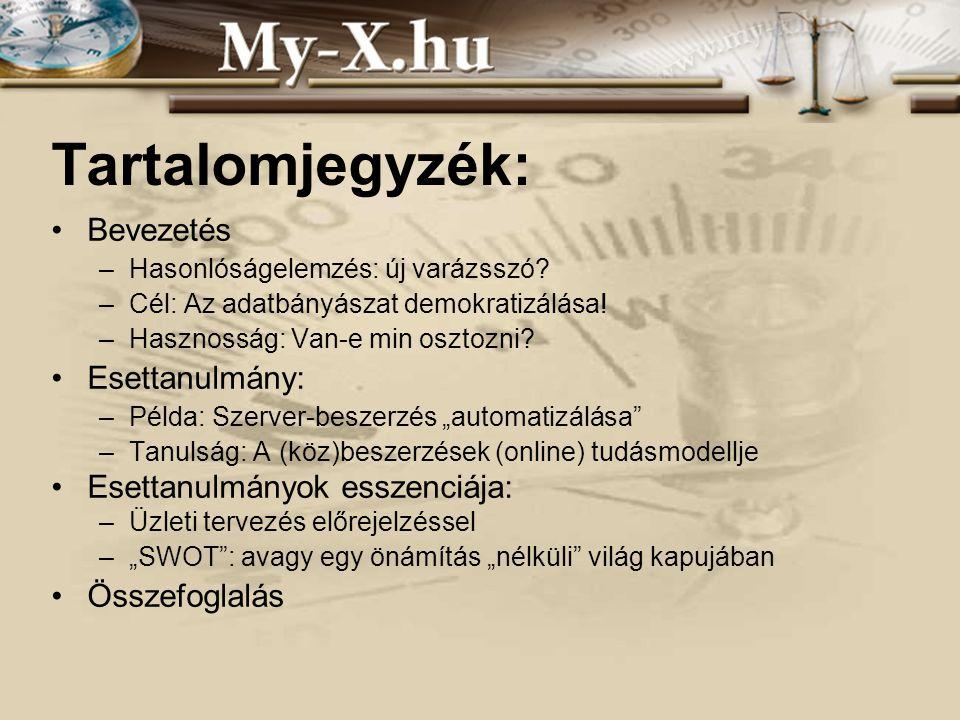 INNOCSEKK 156/2006 Tartalomjegyzék: Bevezetés –Hasonlóságelemzés: új varázsszó.