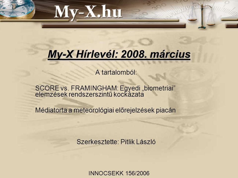 My-X Hírlevél: 2008. március A tartalomból: SCORE vs.