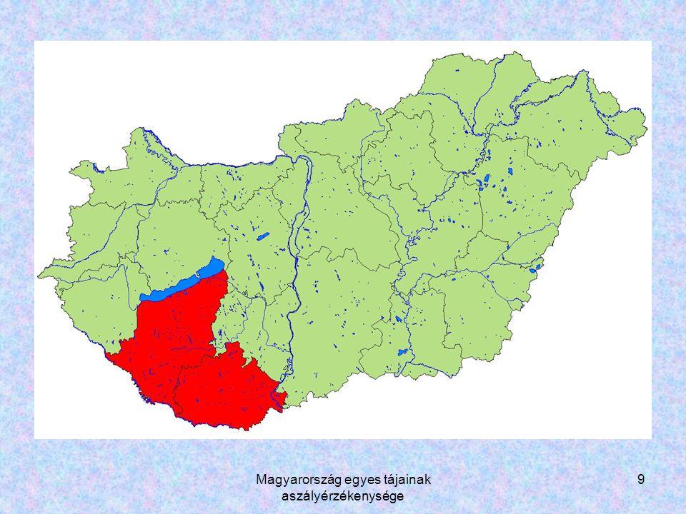 Magyarország egyes tájainak aszályérzékenysége 20