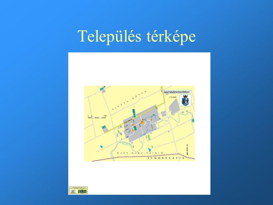 Település térképe