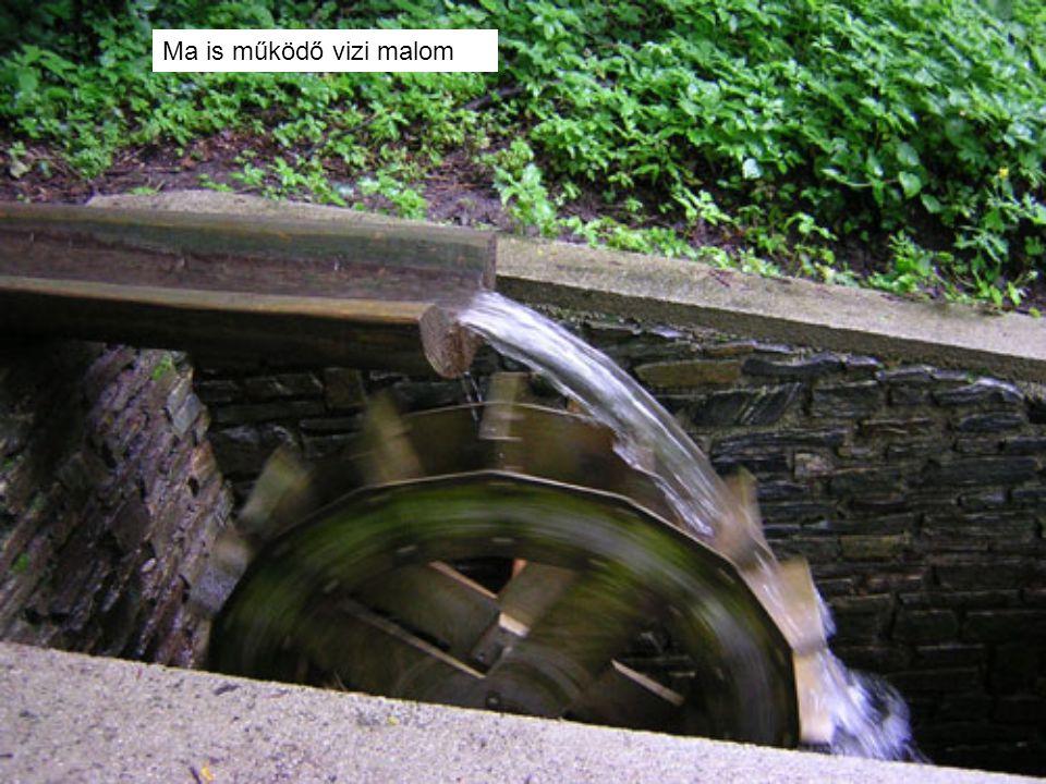 Ma is működő vizi malom