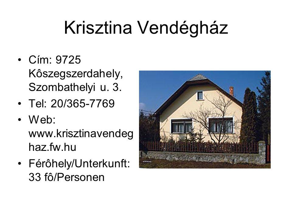 Szent Vid Udvarház Cím: 9725 Kôszegszerdahely, Kossuth u.
