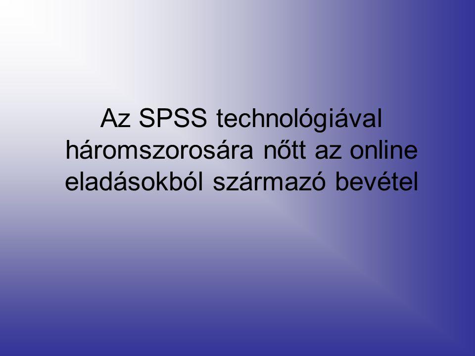 Az SPSS technológiával háromszorosára nőtt az online eladásokból származó bevétel