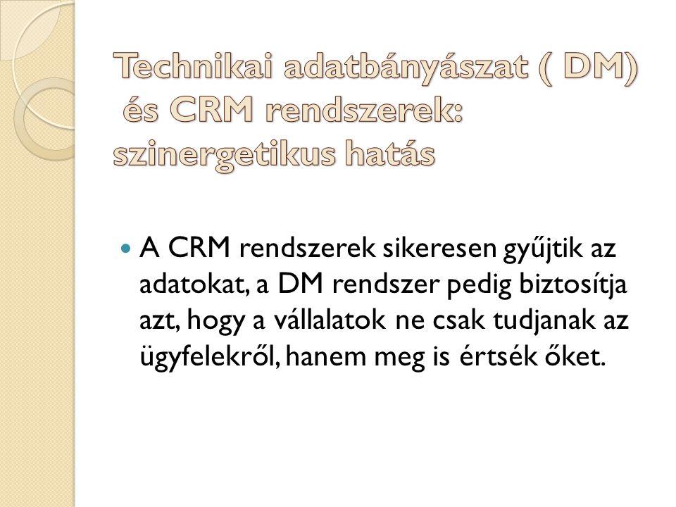 A CRM rendszerek sikeresen gyűjtik az adatokat, a DM rendszer pedig biztosítja azt, hogy a vállalatok ne csak tudjanak az ügyfelekről, hanem meg is értsék őket.