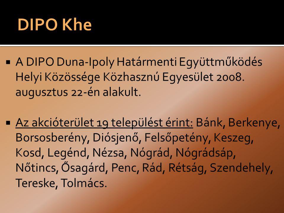  A DIPO Duna-Ipoly Határmenti Együttműködés Helyi Közössége Közhasznú Egyesület 2008.