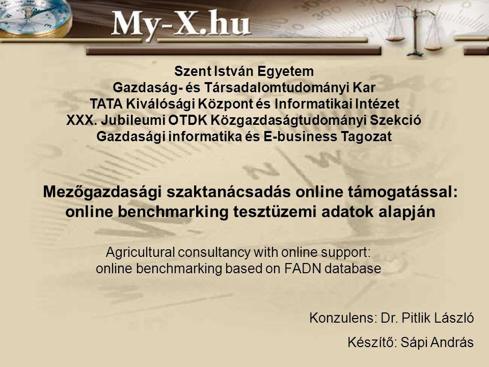 Szent István Egyetem Gazdaság- és Társadalomtudományi Kar TATA Kiválósági Központ és Informatikai Intézet XXX.
