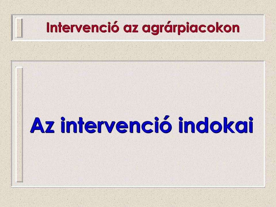 Az intervenció indokai
