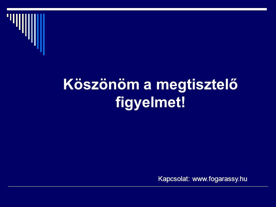 Köszönöm a megtisztelő figyelmet! Kapcsolat: www.fogarassy.hu