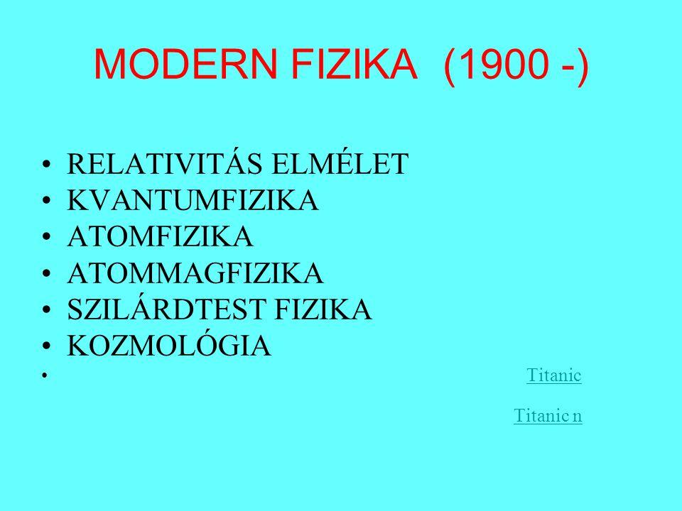 RELATIVITÁS ELMÉLET SPECIÁLIS »LORENTZ (LORENTZ TRANSZFORMÁCIÓK) »POINCARE »EINSTEIN (1905!)EINSTEIN (1905!) »MINKOWSKI (NÉGYDIMENZIÓS TÉR) »MICHELSON-MORLEY KÍSÉRLET (ÉTER) ÁLTALÁNOS (GRAVITÁCIÓELMÉLET) »EINSTEIN »(EÖTVÖS LORÁND) PARADIGMAVÁLTÁS »TÉR – IDŐ (koordináta rendszertől függő) »TÖMEG (tehetetlen, súlyos) »ANYAG –ENERGIA ( E=mc 2 ) »ERŐ ( ) »Arpi SándorArpi Sándor