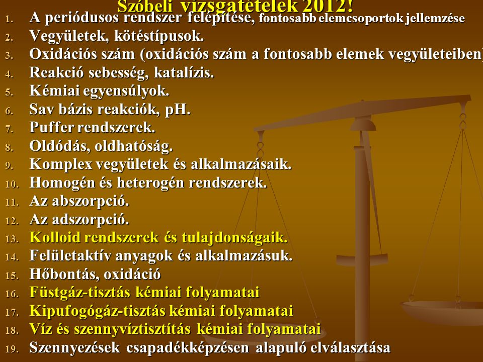Szóbeli vizsgatételek 2012.1.