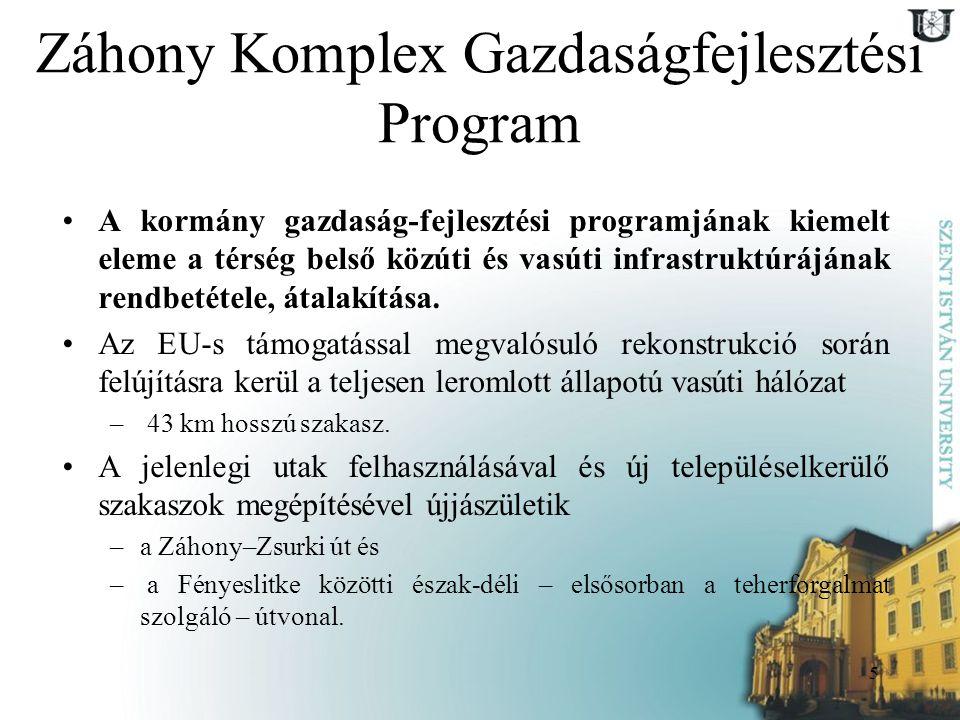 6 Záhony Komplex Gazdaságfejlesztési Program 2008.