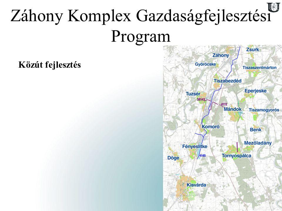 9 Záhony Komplex Gazdaságfejlesztési Program Közút fejlesztés