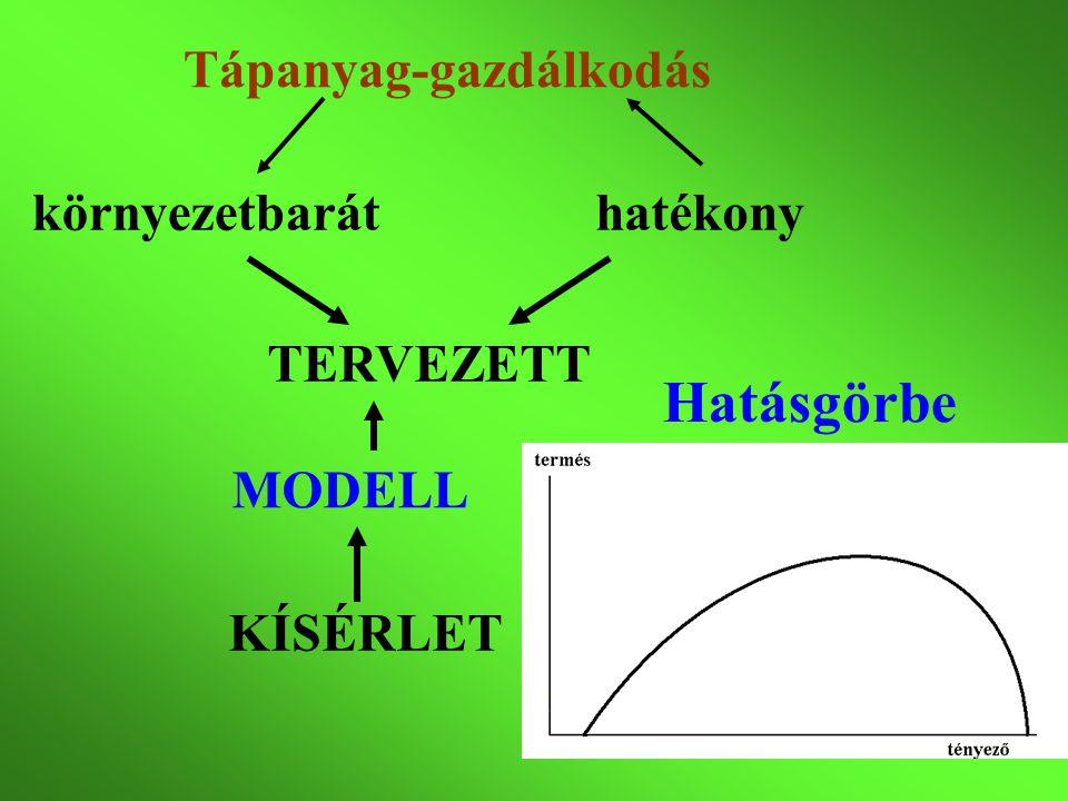 modell Mitscherlich törvény
