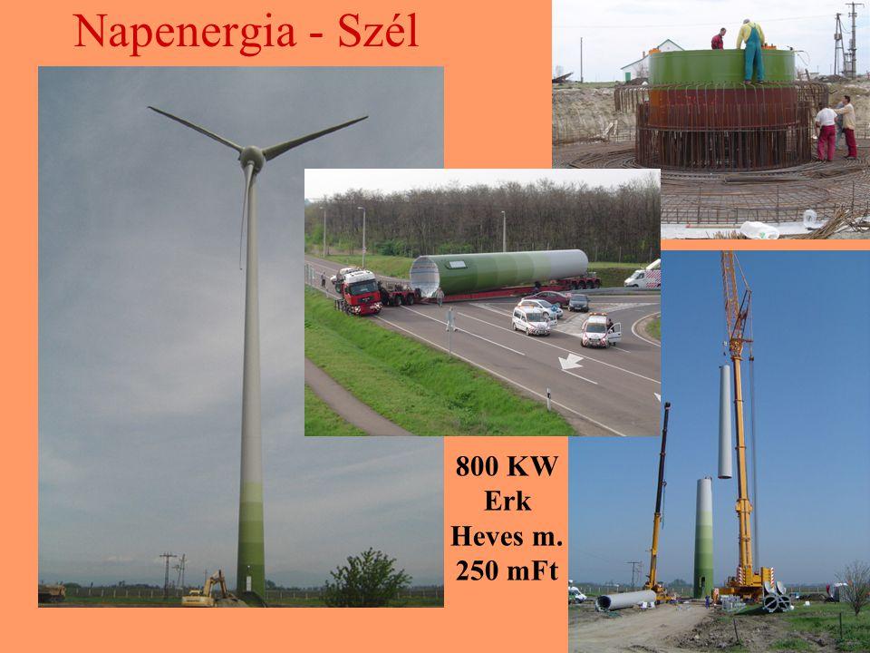 Napenergia - Szél 800 KW Erk Heves m. 250 mFt