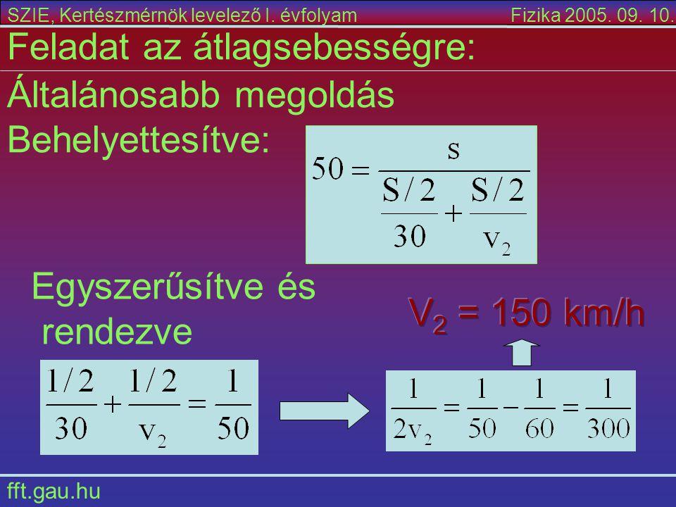fft.gau.hu SZIE, Kertészmérnök levelező I.évfolyam Fizika 2005.