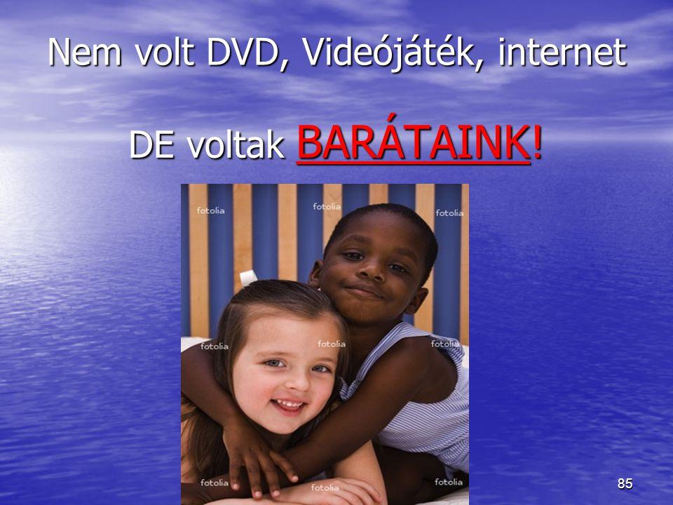 85 Nem volt DVD, Videójáték, internet DE voltak BARÁTAINK!