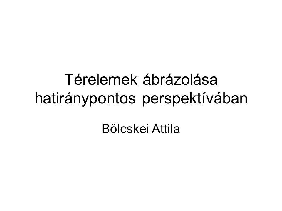 Térelemek ábrázolása hatiránypontos perspektívában Bölcskei Attila