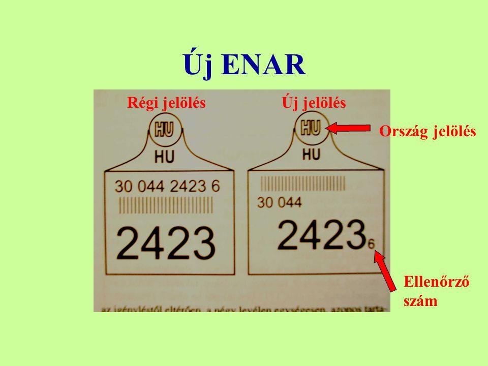 Új ENAR Régi jelölésÚj jelölés Ellenőrző szám Ország jelölés