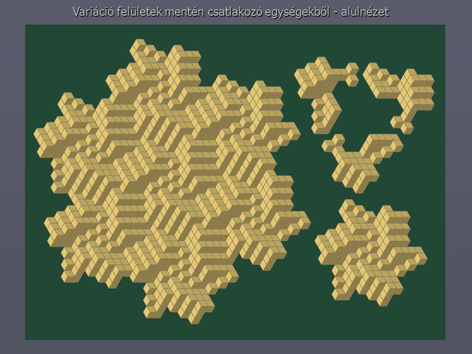 Variáció felületek mentén csatlakozó egységekből - alulnézet