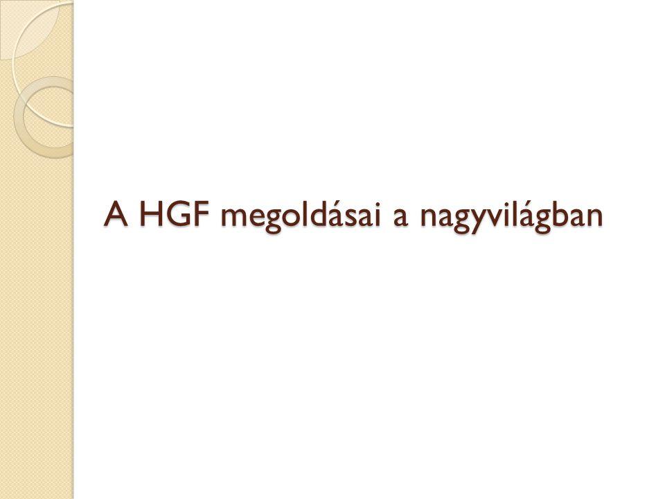 A HGF megoldásai a nagyvilágban