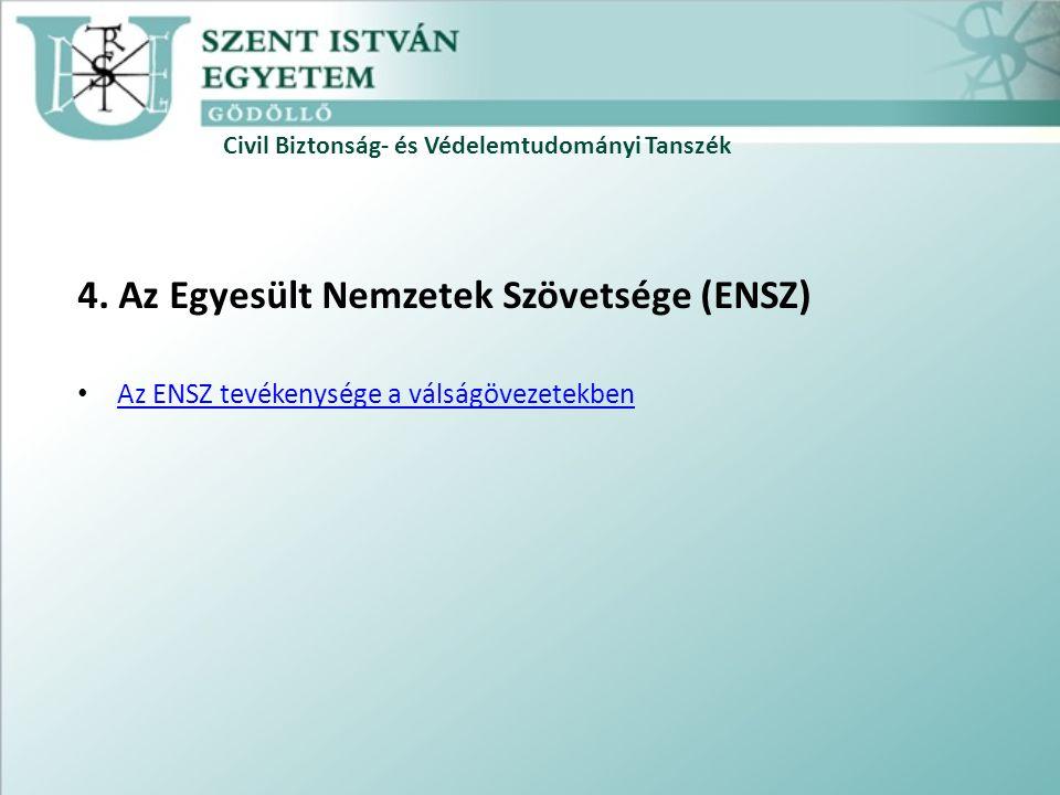Civil Biztonság- és Védelemtudományi Tanszék 4.