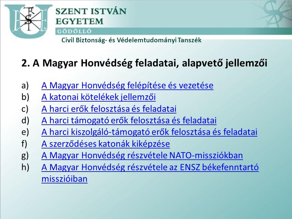 Civil Biztonság- és Védelemtudományi Tanszék 2.