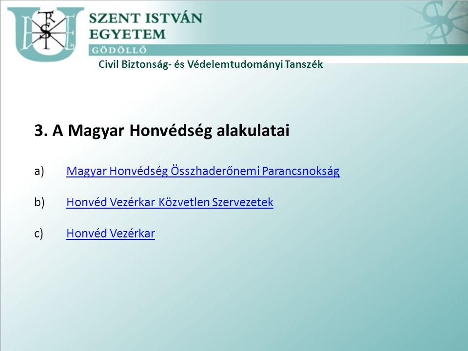 Civil Biztonság- és Védelemtudományi Tanszék 3.