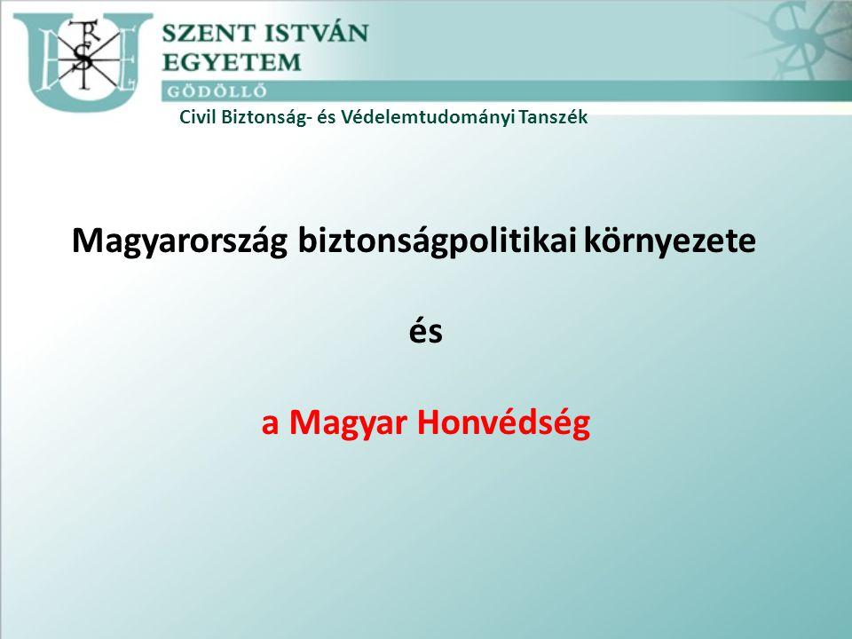 Civil Biztonság- és Védelemtudományi Tanszék Magyarország biztonságpolitikai környezete és a Magyar Honvédség