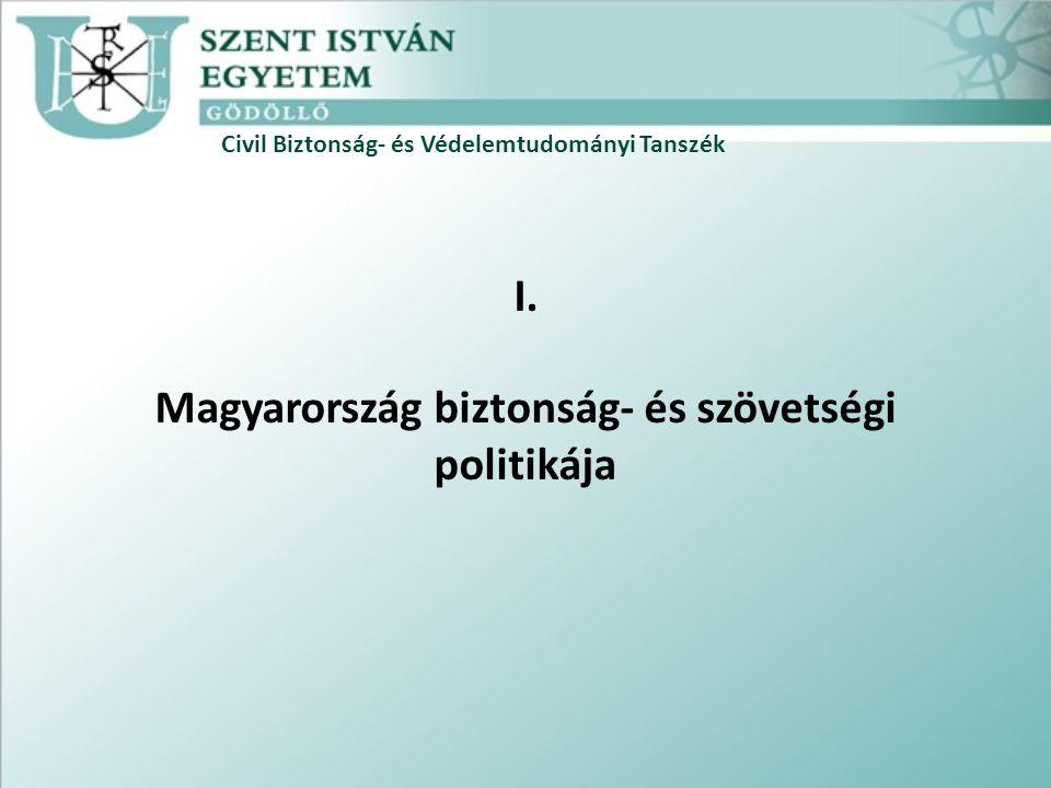 Civil Biztonság- és Védelemtudományi Tanszék I. Magyarország biztonság- és szövetségi politikája