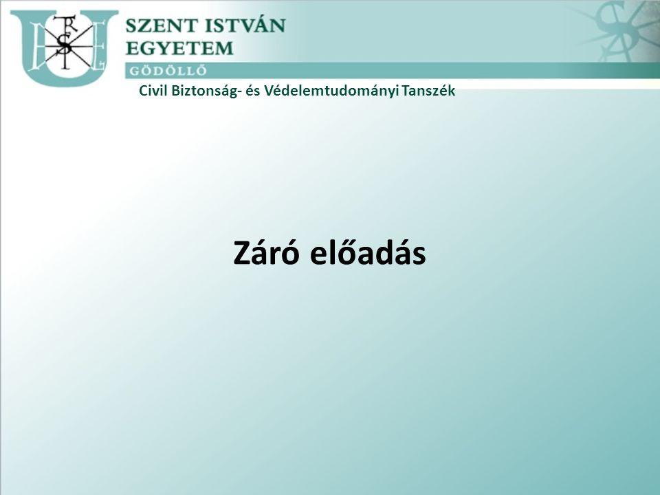 Civil Biztonság- és Védelemtudományi Tanszék Záró előadás
