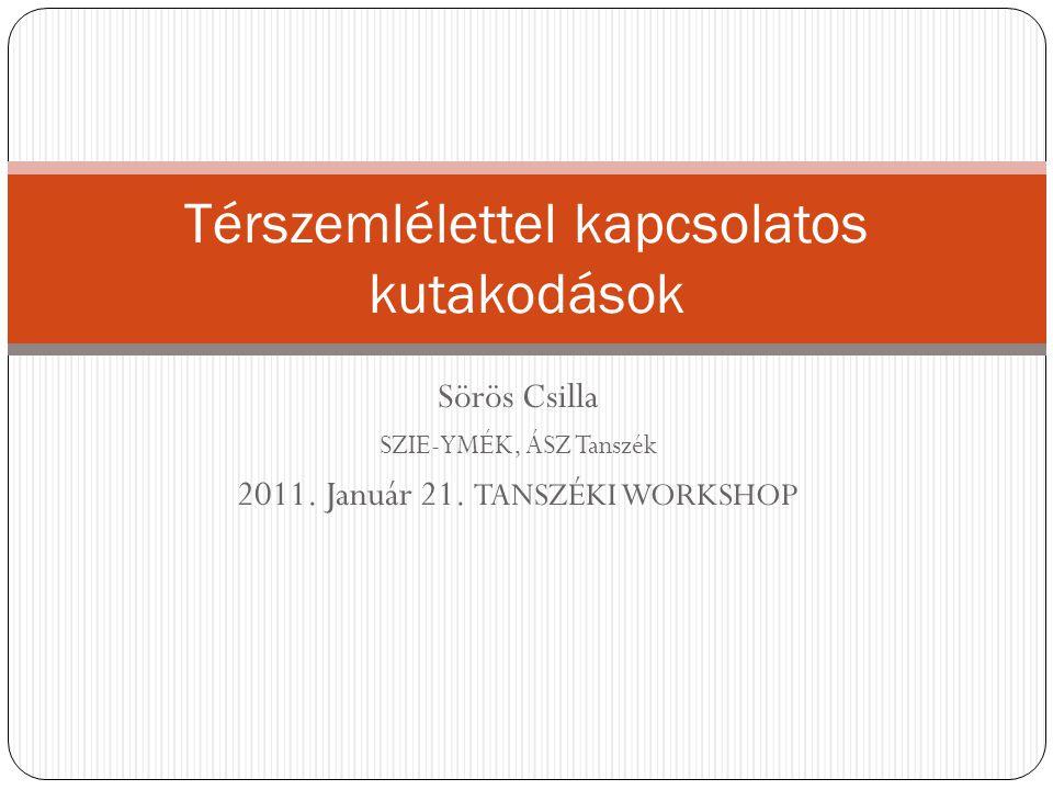Sörös Csilla SZIE-YMÉK, ÁSZ Tanszék 2011. Január 21.