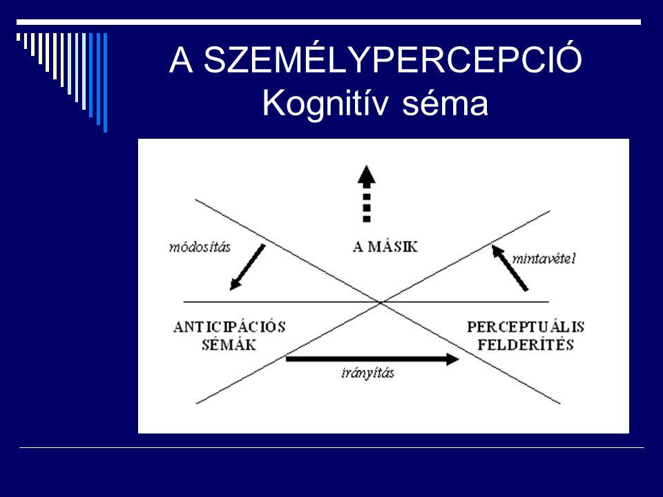 A SZEMÉLYPERCEPCIÓ Kognitív séma