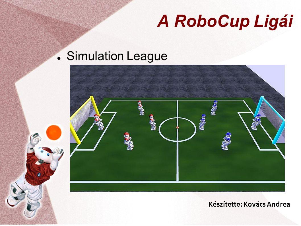 Készítette: Kovács Andrea A RoboCup Ligái Simulation League