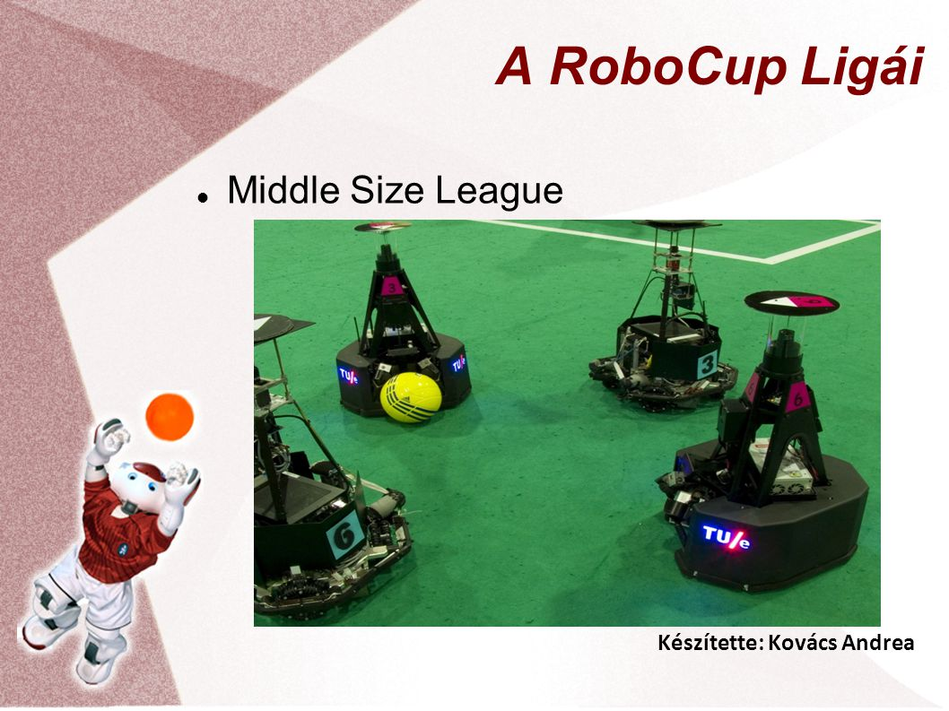 Készítette: Kovács Andrea A RoboCup Ligái Middle Size League