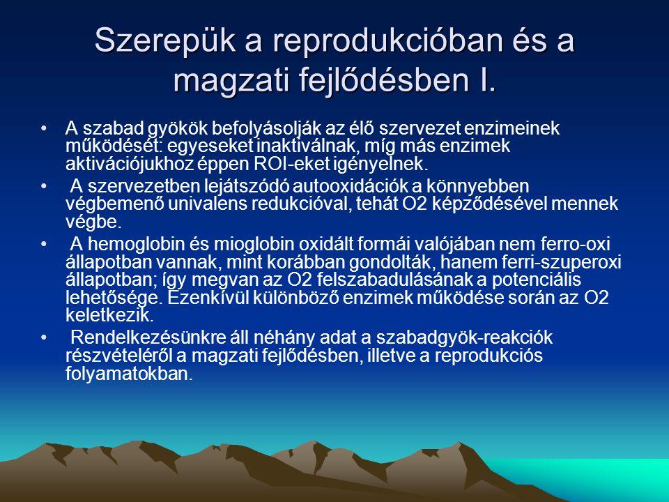 Szerepük a reprodukcióban és a magzati fejlődésben II.