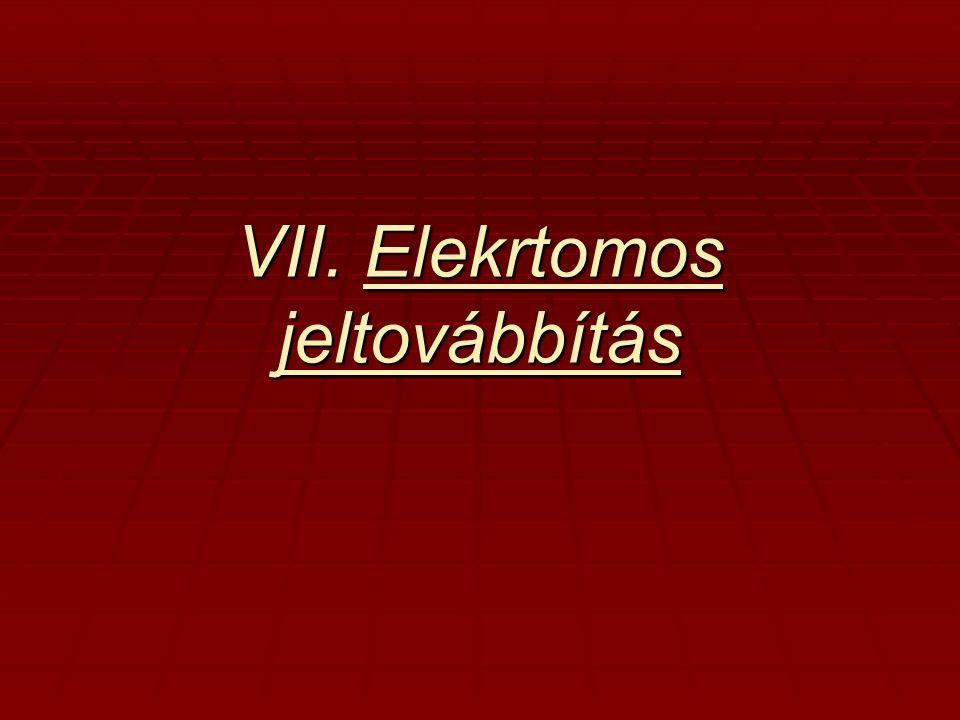 VII. Elekrtomos jeltovábbítás
