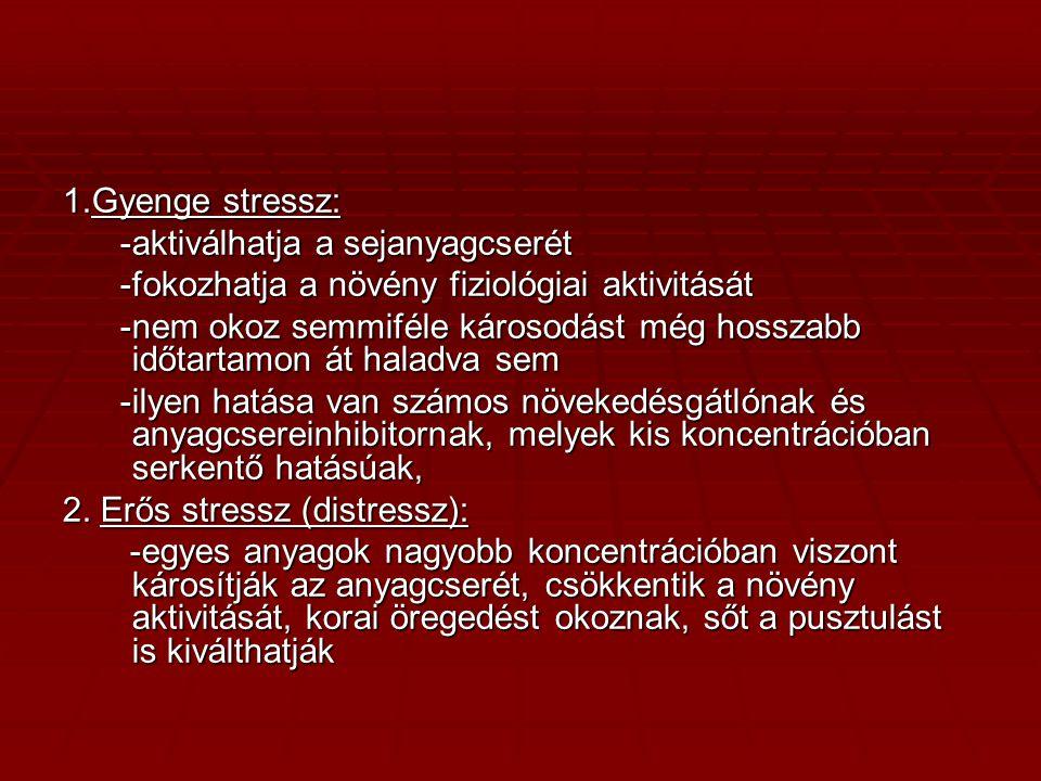 V. A stressz szakaszai: -vészreakció -ellenállás stádiuma -kimerülés