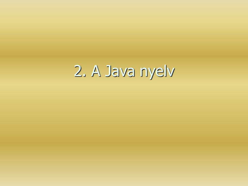 2. A Java nyelv